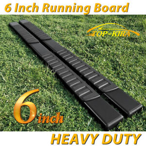 Fit 99 13 Chevy Silverado Double Cab 6 Running Boards Side Step Nerf Bar Blk H