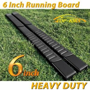 Fit 01 18 Chevy Silverado Crew Cab 6 Running Boards Side Step Nerf Bar Blk H