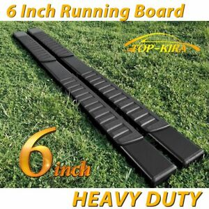 Fit 01 16 Chevy Silverado Crew Cab 6 Running Boards Side Step Nerf Bar Blk H