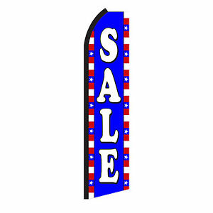 Sale Advertising Sign Swooper Feather Flutter Banner Flag Only