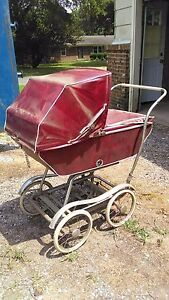 1950 Vintage Babyhood Baby Carriage Buggy Stroller By Wonda Chair