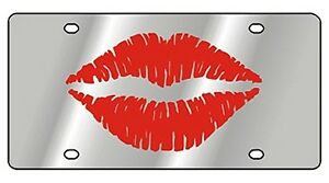 New Red Lips Novelty License Plate