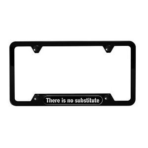 Genuine Porsche License Plate Frame there Is No Substitute Black