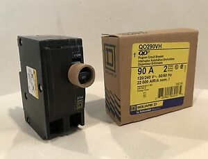 Square D Qo290vh Plug on Circuit Breaker 90 Amp 2 Pole 120 240v Brand New In Box