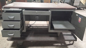 Vintage Cole Steel Metal Office Desk