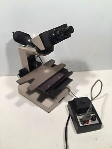 Guaranteed Olympus Bhm Bh 2 Microscope With Condenser Eyepieces 4 Objectives
