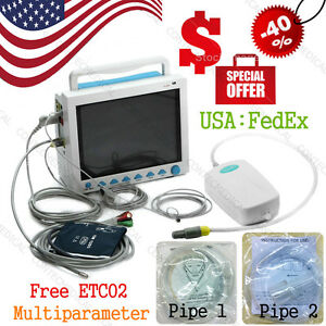 Fda ce Multiparameter Vital Signs Patient Monitor Icu co2 Capnograph cms8000 usa