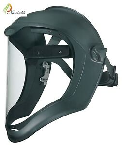 Uvex Bionic Face Shield W Clear Visor Protective Cover Safety Grinding Sanding
