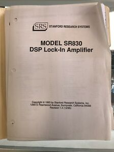 Model Sr830 Dsp Lock in Amplifier Stanford Research Systems Manual