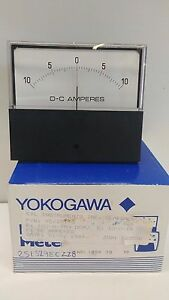 New Old Stock Yokogawa Panel Meter Dc Amp meters 10 0 10 Ye 251 3