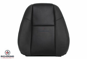09 13 Chevy Avalanche Ltz Driver Lean Back Perforated Leather Seat Cover Black