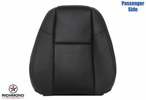 09 13 Avalanche Ltz Passenger Side Lean Back Perforated Leather Seat Cover Black