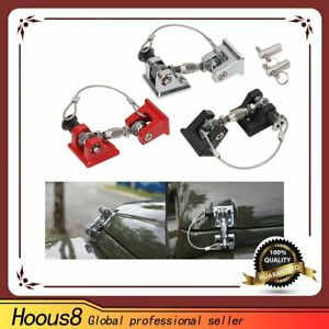 Anti thief Hood Lock Latches Catch Locking Kit For Jeep Wrangler Jk 20