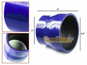 3 5 To 3 Silicone Hose intake turbo intercooler Pipe Coupler Connector Blue