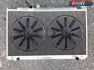 Aluminum Radiator For 1996 2001 Toyota Mark Ii Chaser 1997 1998 1999 fans