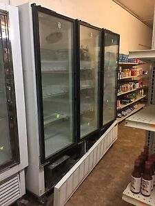 3 Door Freezer Hussmann Model Arv01050 Color White Condition Used