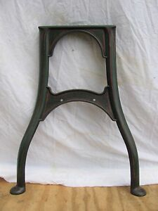 Antique Pair Industrial Painted Cast Iron Machine Stand Legs Shipping Available