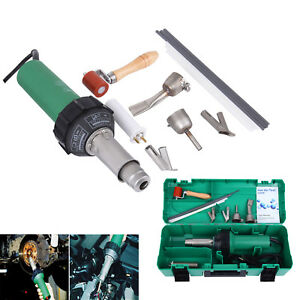 110v 1600w Hot Air Torch Plastic Welder Heat Gun Pistol Welding Kit 40 600 c