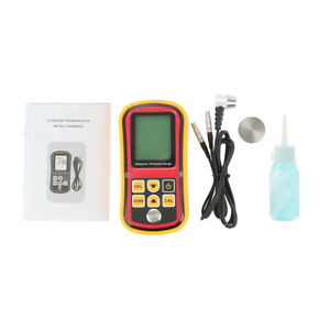 Digital Ultrasonic Thickness Tester Sound Velocity Gauge Meter 1 2 220mm Gm100