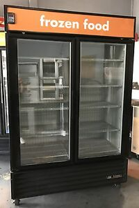 True 2 Door Commercial Glass Freezer Merchandiser