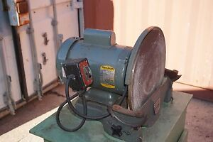 QUALITY USED BALDOR MOTOR DISC SANDER GRINDER 220 VOLT SANDING MACHINE ESTATE