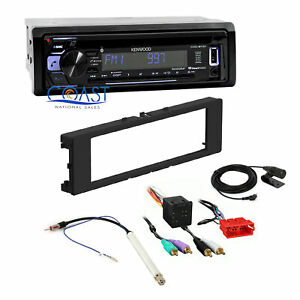 Kenwood Car Stereo Radio Bluetooth Dash Kit Harness For 96 06 Audi A4 A6 A8 Tt