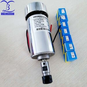 300w 3a Air Cold Cnc Engraving Machine Spindle Dc Motor er11 Chuck 1mm 7mm