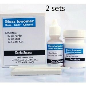 Permanent Cement Tooth Dental Teeth Material 2 Sets Kit Self Shade Repair Luting
