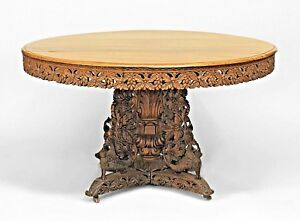 English Anglo Indian Mid 19th Cent Teak And Padouk Circular Table