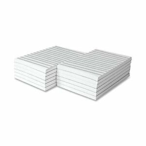 Memo Pads White With Black Lines 50 Sheets Per Pad 10 Pads 4 X 6