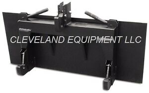 3 point Hitch Attachment Conversion Adapter Category 1 Skid steer Loader Bobcat