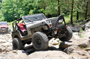 87 95 Jeep Wrangler Yj Power Steering 4 Rough Country Suspension Lift W Shocks