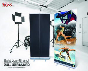 Aluminum 33 x80 Retractable Roll Up Banner Stand Pop Up Trade Show Display