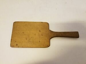 Old Primitive Vintage Wooden Miniature Cutting Board With Handle