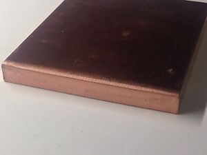 1 2 Thick X 4 Wide X 18 Long Flat Copper Bar Stock C110