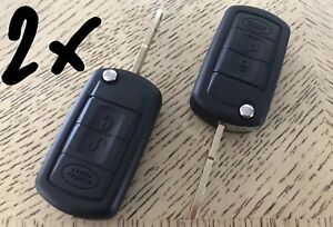 2x Keyless Remote Key Shell Case Land Rover Lr3 Range Sport Discovery 3 Buttons