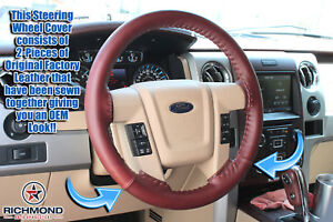 2013 2014 Ford F 150 King Ranch Leather Steering Wheel Cover W needle