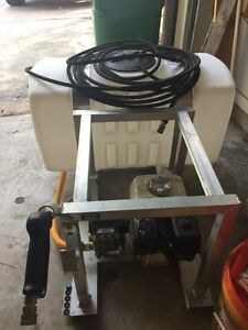 Skid Mounted Pressure Washer 5 5 Hp Honda Gx Engine 50 Gallons Capacity