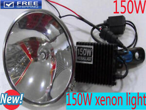 150w Hid Xenon Kit Handheld 180mm Search Lamp Spotlight Hunting Fishing Offroad