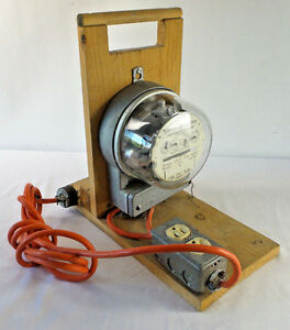 Homemade Power Measure With Ge Watthour Meter Type 1 50 a Steampunk Works