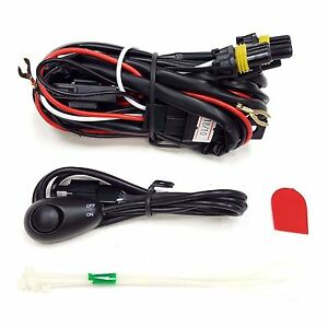 9005 12v 30a Fog Light Wiring Harness Relay Kit Led On Off Switch 2 Plugs Wire