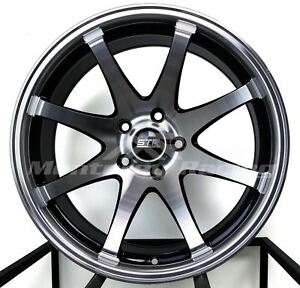 18x9 5x110 Str 903 Black Machine Saturn Pontiac Chevy