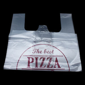 Multi size Supermarket Grocery Plastic Shopping Carrier Bags Pizza Clear Pouch