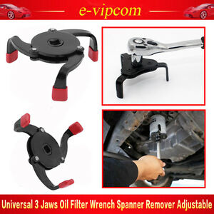 2 Way Oil Filter Wrench Auto Adjustable Universal 3 Jaw Remover Socket New