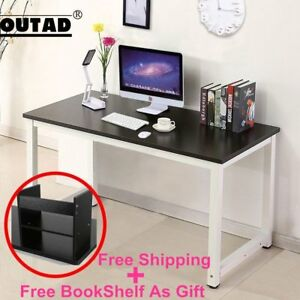 Wood Black Computer Desk Pc Laptop Table Workstation Study Home Office Furniture