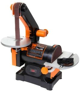 WEN Belt Sander 1 in. x 30 in. Sturdy Cast Iron Base 5 in. Sanding Disc