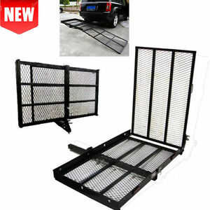 48 X 28 Foldable Hitch Mount Towing Wheel Chair Scooter Carrier Rack With Ramp