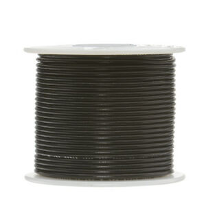 28 Awg Gauge Solid Hook Up Wire Black 1000 Ft 0 0126 Ul1007 300 Volts