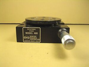 Newport Nrc Model 480 Rotation Stage 60mm Dia 1 4 20 Thread 8 32 Threads