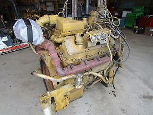 Caterpillar 3408 Diesel Engine Running Takeout Nice 988b Loader Generator V8